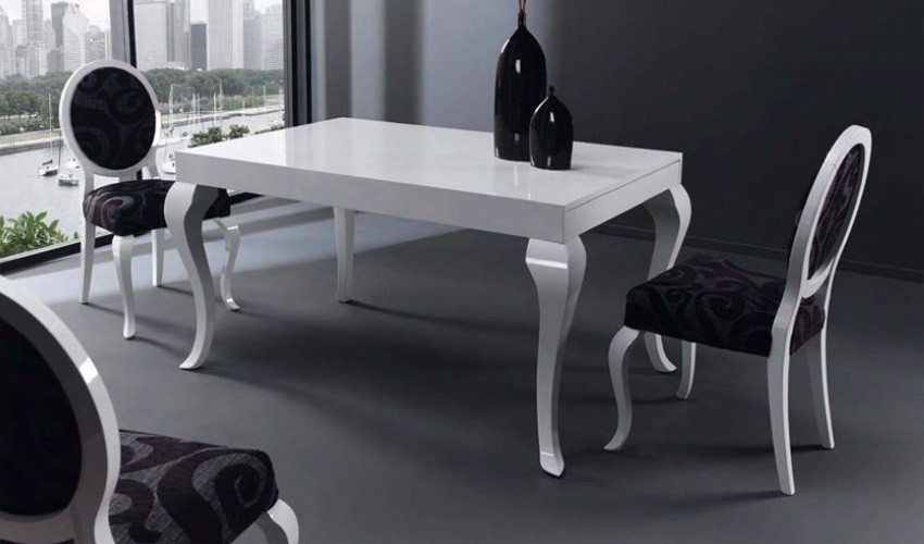 Mesa de comedor de dise o extensible for Disenos de mesas de vidrio para comedor