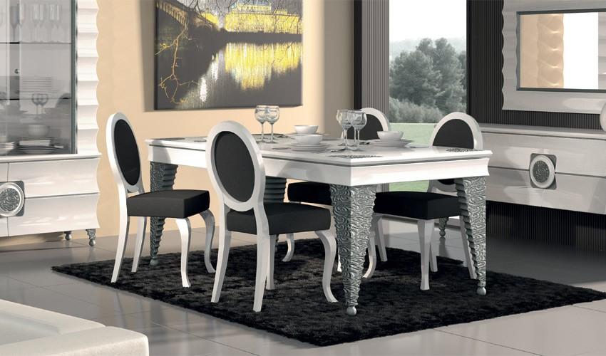 mesa de comedor de dise o con grabados On mesas de comedor cuadradas de diseno