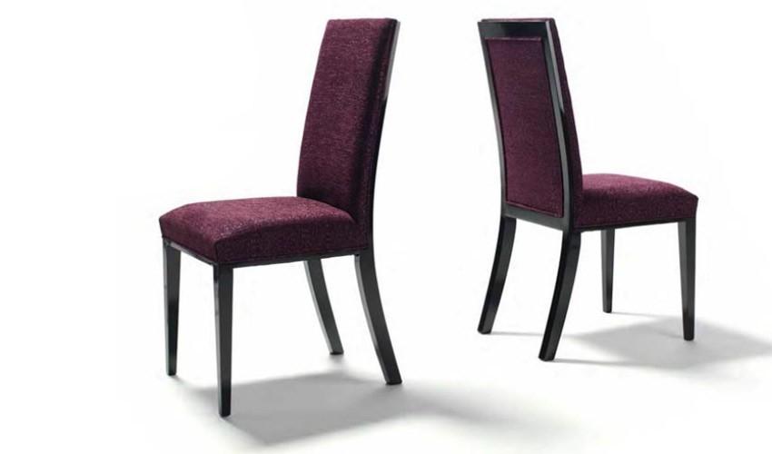 Silla de comedor tapizada lacada ref l77000 for Sillas clasicas modernas