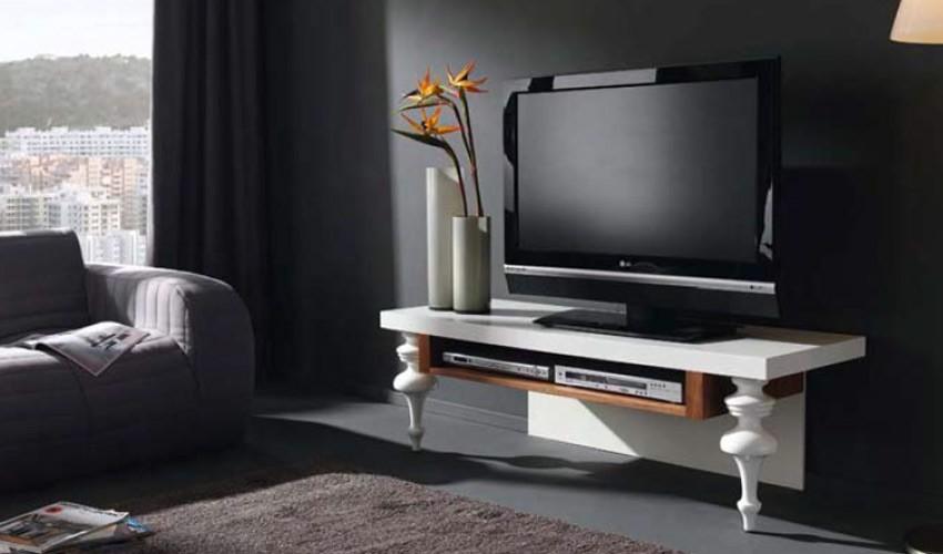 Mesa de Televisión con Patas en Haya Lacada Ref L80000