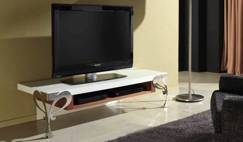 Mesa de televisi n con patas en forja - Mesa de television ...