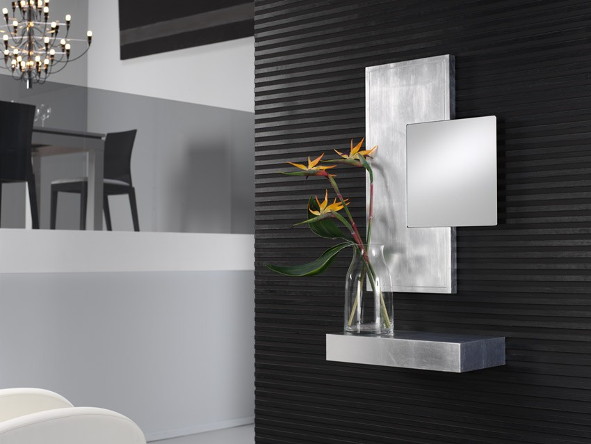 Espejo rectangular lacado ref l87000 for Espejo rectangular grande