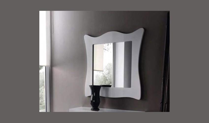 Espejo recibidor lacado ref l96000 for Espejos de diseno para recibidor