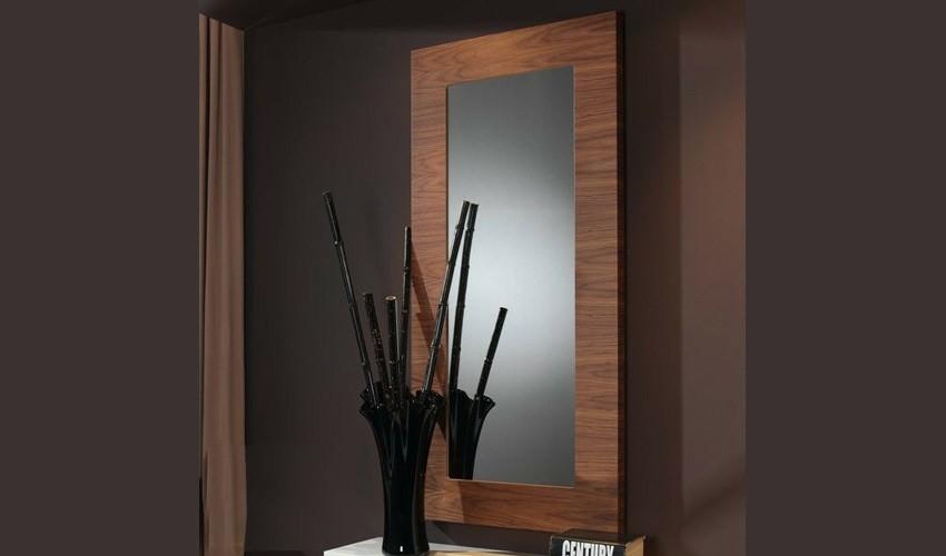 Espejo recibidor acabado nogal ref l100000 for Espejos modernos para recibidor