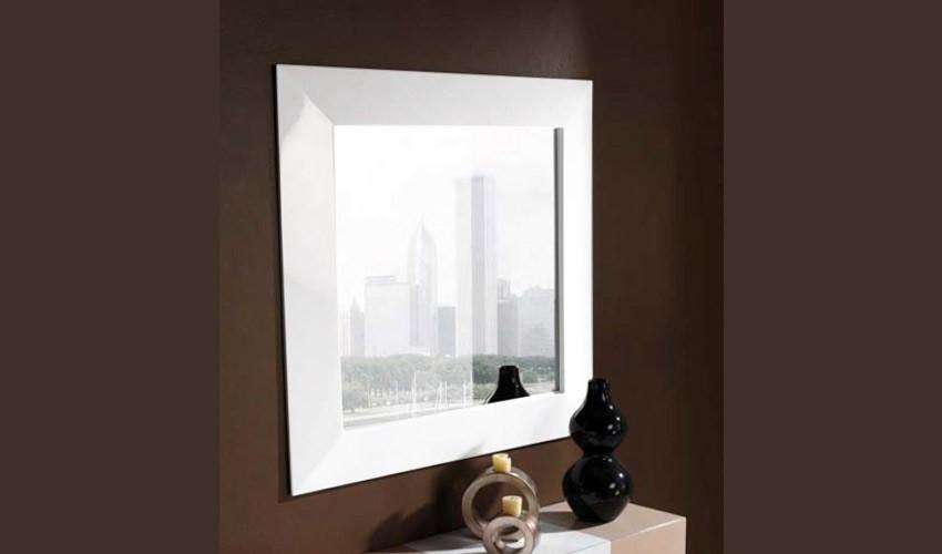 Espejo recibidor cuadrado ref l104000 for Espejos cuadrados grandes