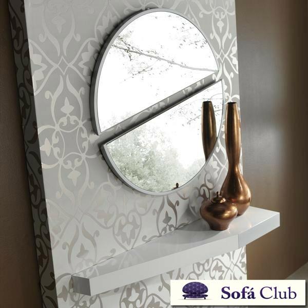 Espejo recibidor redondo partido ref l106000 for Espejos originales recibidor