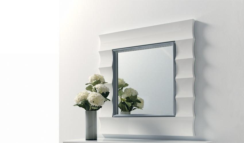 espejo recibidor cuadrado de dise o ref l117000 ForEspejos De Diseno Para Recibidor