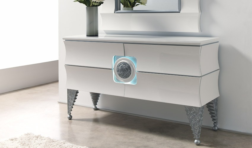 Consola recibidor de dise o impecable con luz ref l131000 - Recibidores de diseno italiano ...