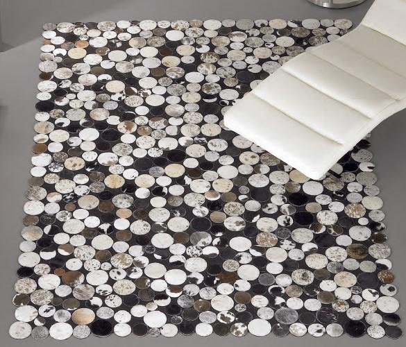 alfombra de piel fabricada a mano en la india ref c11000