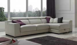 A47000 Sofá con opción Rinconera, Chaiselongue y en 3, 2 y 1 plaza. Disponible en Piel Natural
