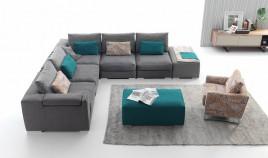 A49100 Sofisticado sofá modular combinable según el diseño que elijas.
