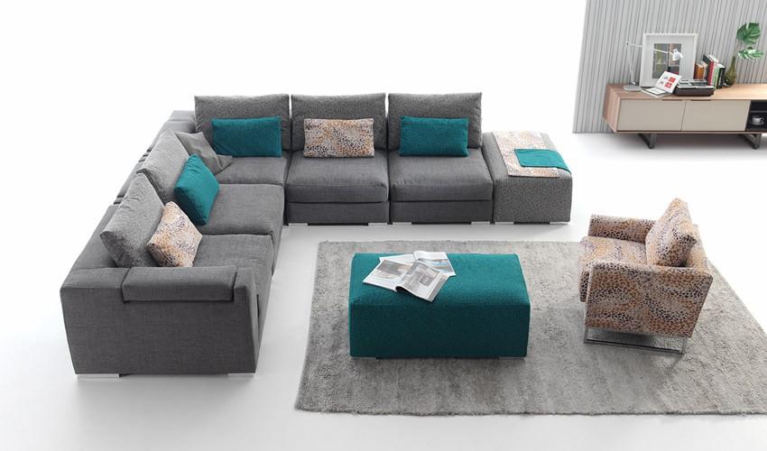 sofisticado sofá modular combinable.