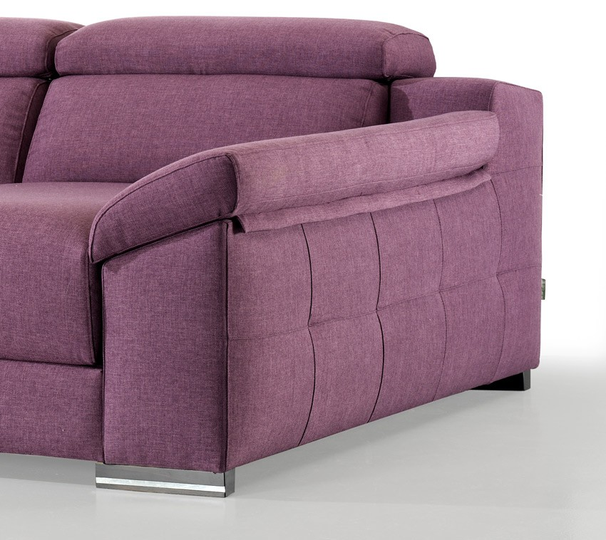 Moderno sof con opci n arc n en chaiselongue rinconera y - Sofa rinconera moderno ...