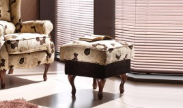 A60000 Elegante Pouff clásico tapizado