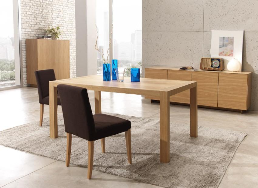 Mesa de comedor extensible acabado en roble for Mesas comedor extensibles modernas