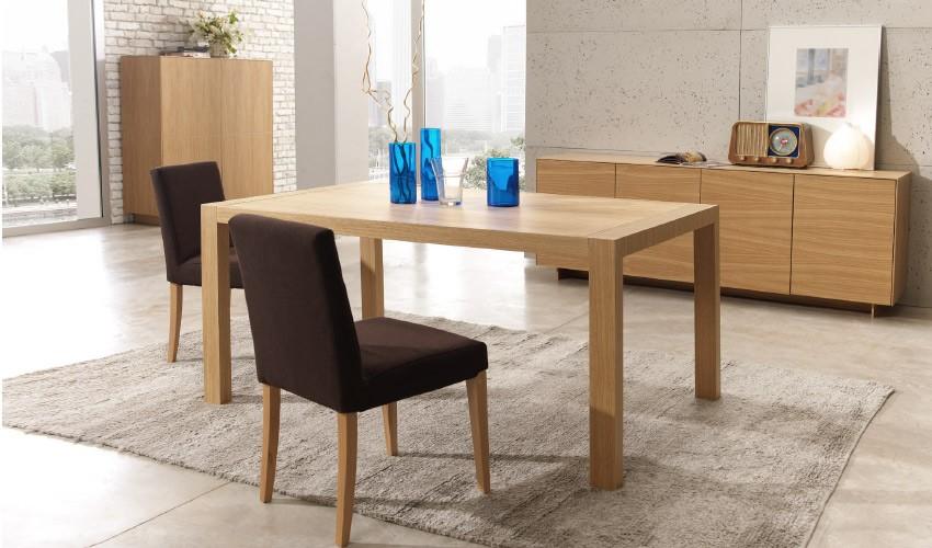 Mesa de Comedor extensible acabado en chapa natural Ref L132000