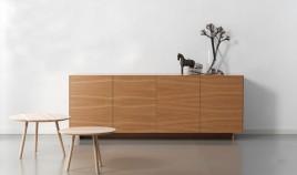 Mueble Aparador de diseño acabado en Roble Ref L137000