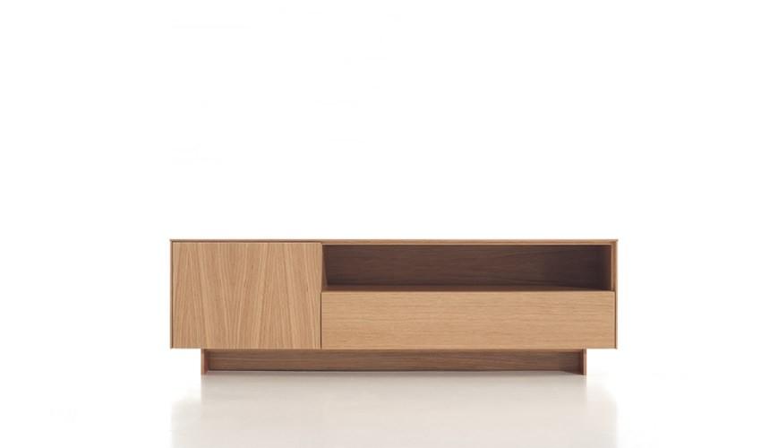 Mueble Televisión fabricada acabado en Roble Ref L140000