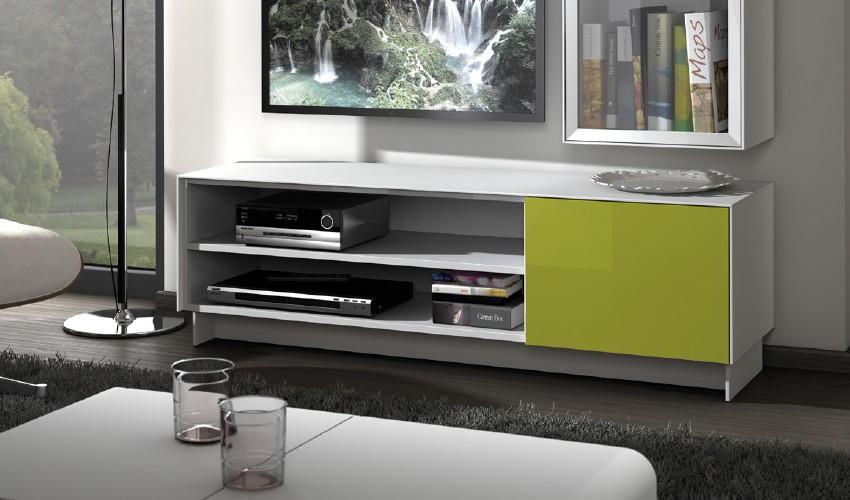 Mesa de televisi n moderna con acabado lacado - Mesa de television ...