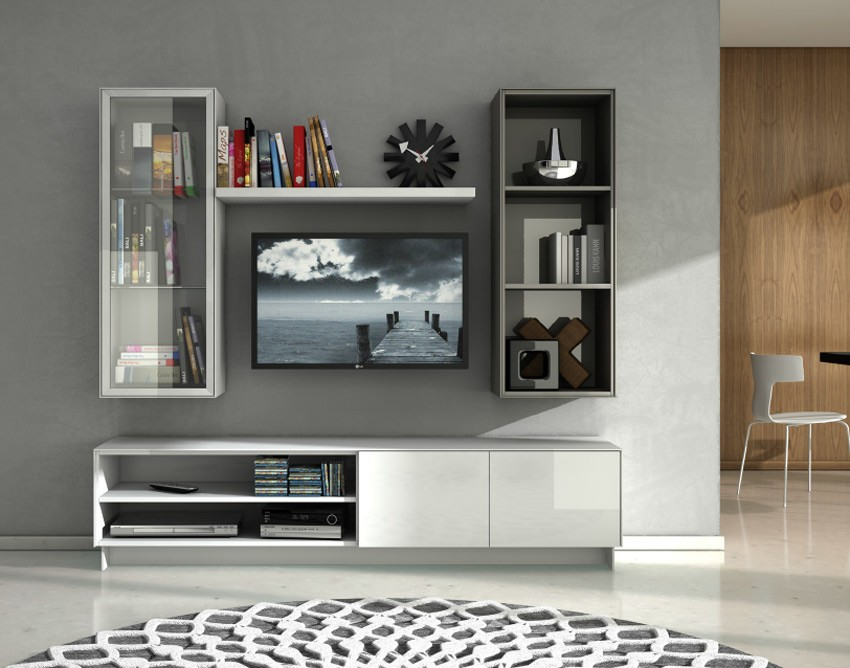 Mueble de televisi n de dise o lacado for Muebles television diseno