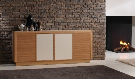 Mueble Aparador acabado en chapa natural y Cerámica Ref L142000