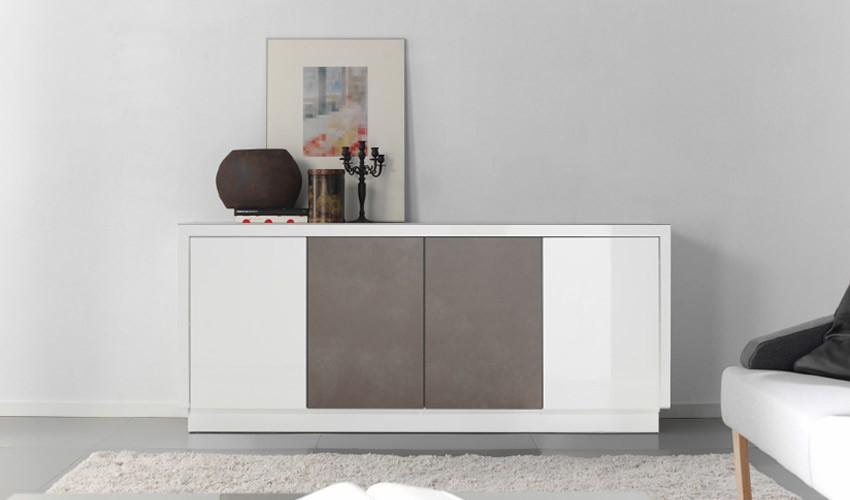 Mueble aparador lacado con detalle cer mico - Mueble aparador para comedor ...