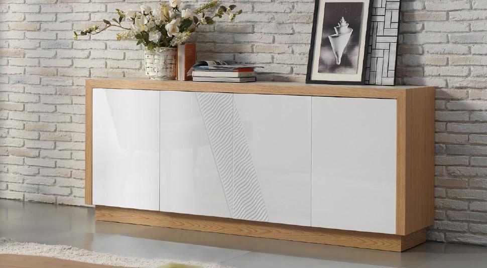 Mueble aparador en roble con acabado lacado - Mueble aparador para comedor ...