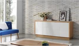 Mueble Aparador lacado con acabado en chapa natural Ref L144000