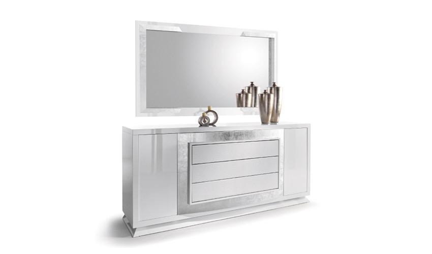 Conjunto Aparador y Espejo de Diseño con acabado lacado Ref L147000