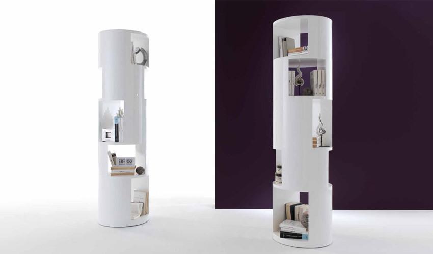 Estantería de exclusivo diseño con acabado blanco Brillo Ref Q95000