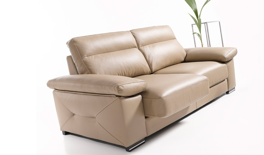 Sofas modernos de piel awesome sofa moderno leco with for Sofas cheslong de piel