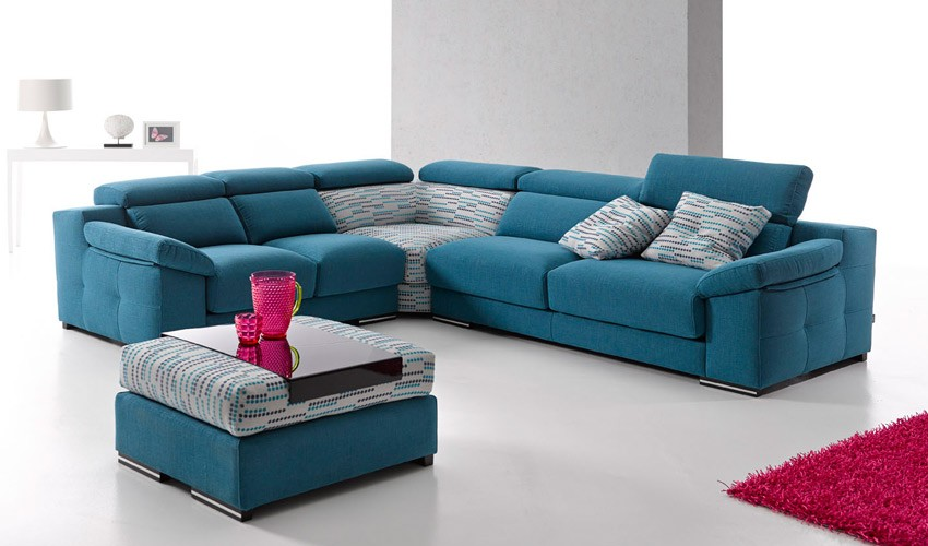 A50000 Moderno sofá con opción Rinconera, Chaiselongue y en 3, 2 y 1 plaza.
