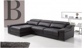 A66100 Sofá Chaiselongue disponible en 3, 2 y 1 plaza con opción Rinconera