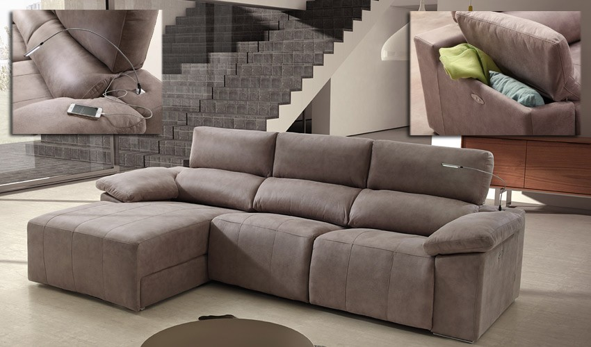 Sofa twoseater small black leather the day bed