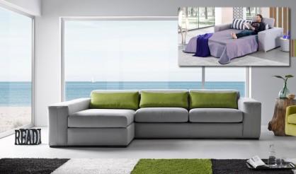Sof cama chaiselongue con arc n disponible en 3 y 2 plazas for Sofa cama 2 plazas chaise longue