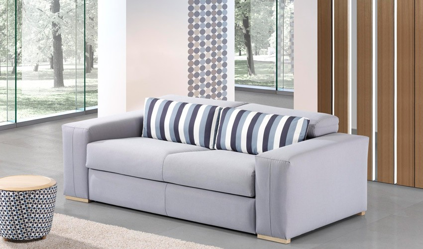 sof chaiselongue con cama de apertura italiana disponible