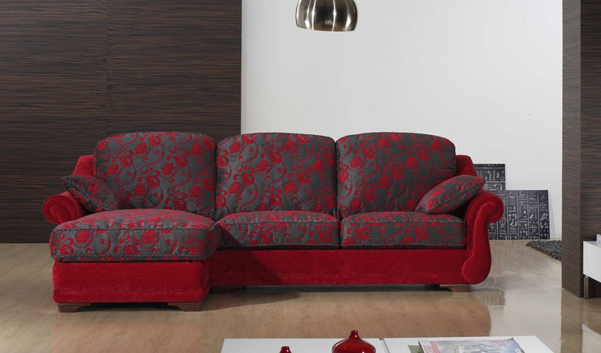 A76100 Sofá Chaiselongue Clásico disponible en 3, 2 y 1 Plazas y Rinconera