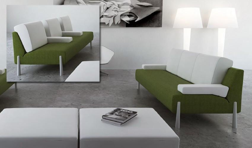 D46000 Original Sofá de Diseño con acabados impecables, disponible en formato chaiselongue