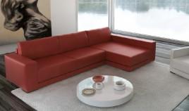 D49100 Sofá chaiselongue de diseño de lineas rectas disponible también en rinconera y en 3,2 y 1 plazas