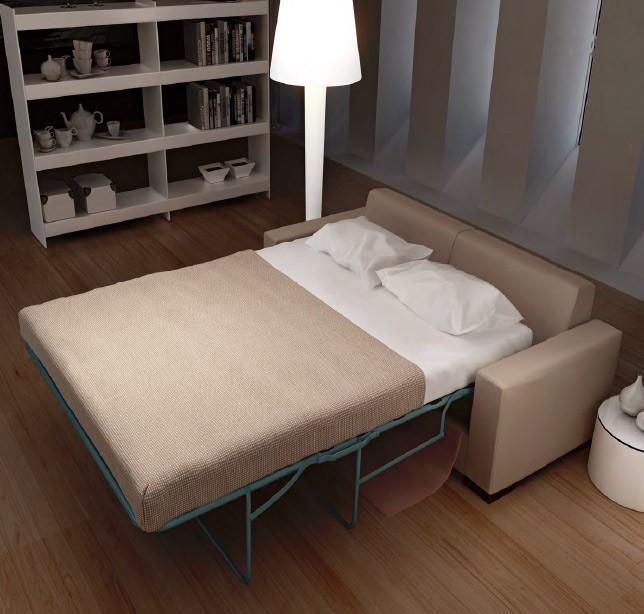 D22000 sof cama de dise o con sistema de apertura francesa for Cama diseno