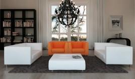 D52000 Sofá de Diseño de lineas rectas y acabado impecable