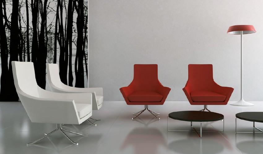 D56000 Silla de diseño con patas metálicas
