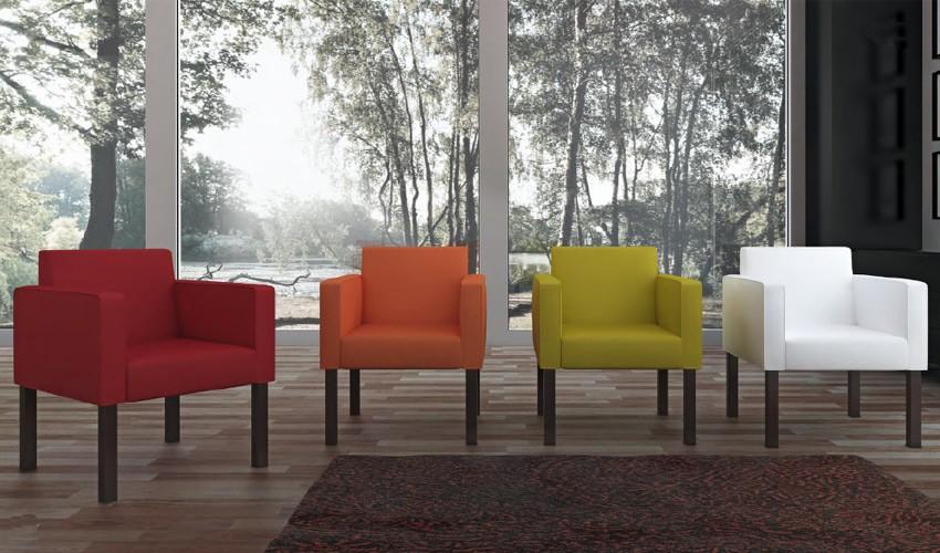 D58000 Elegante Sillón decorativo ideal para salas de espera