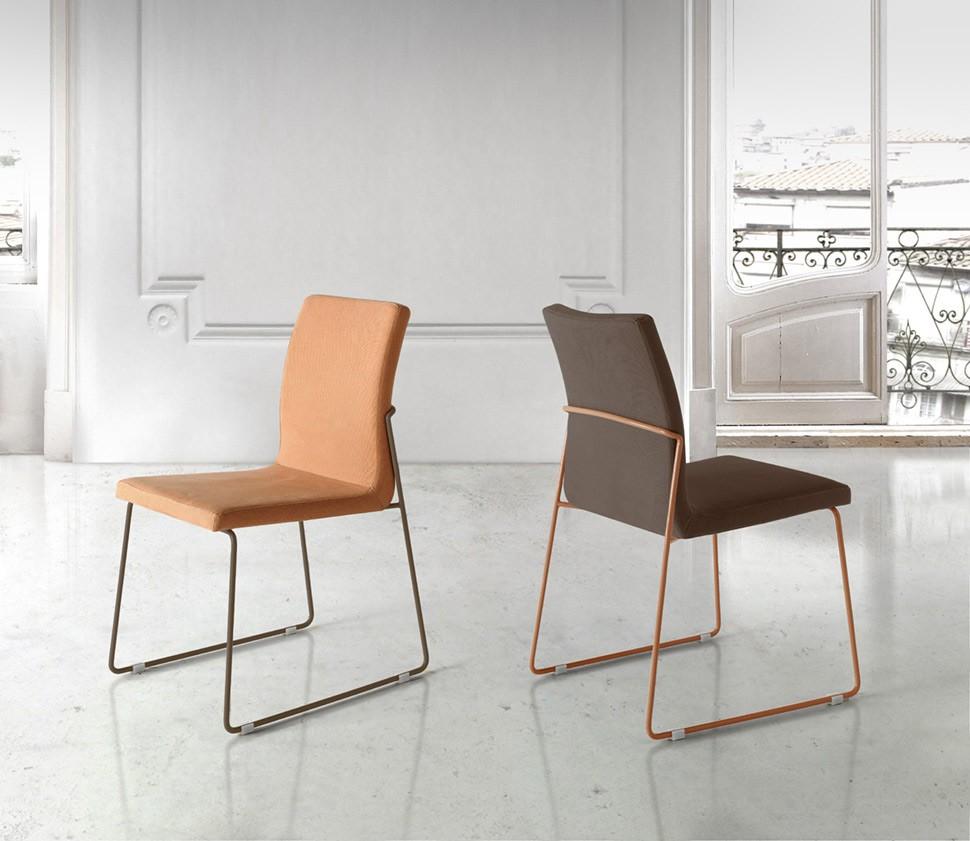 Moderna silla de oficina tapizada en piel ref q16000 for Sillas en piel para comedor