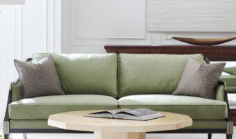 Cómo decorar un estudio con un sofá clásico
